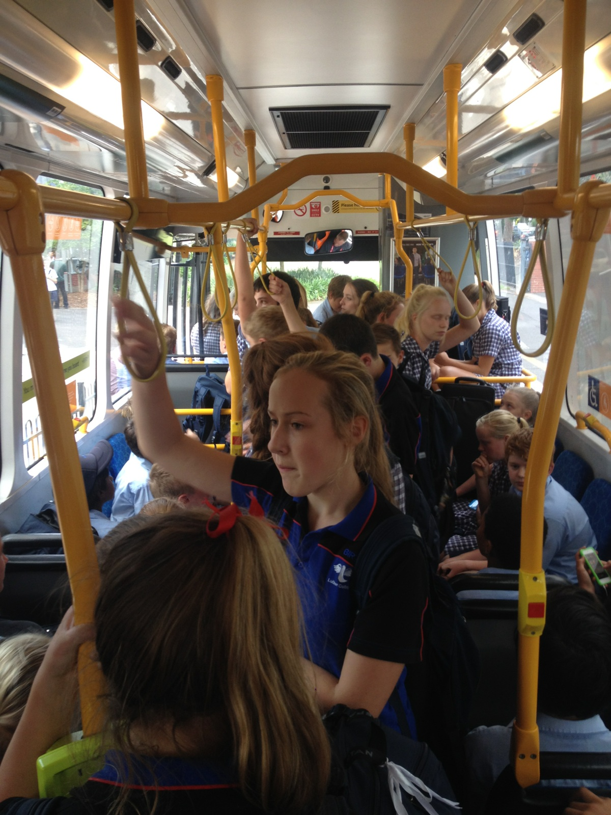 Standing Room Only On The Bus Michelle Pini
